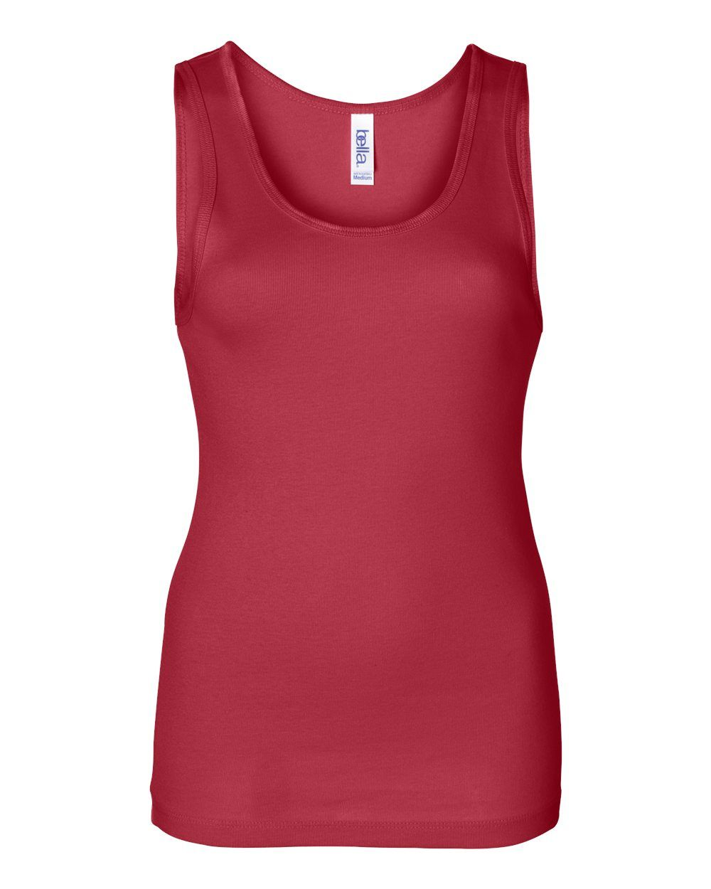 Bella and Canvas Ladies Stretch Rib Tank Slim Fit Red
